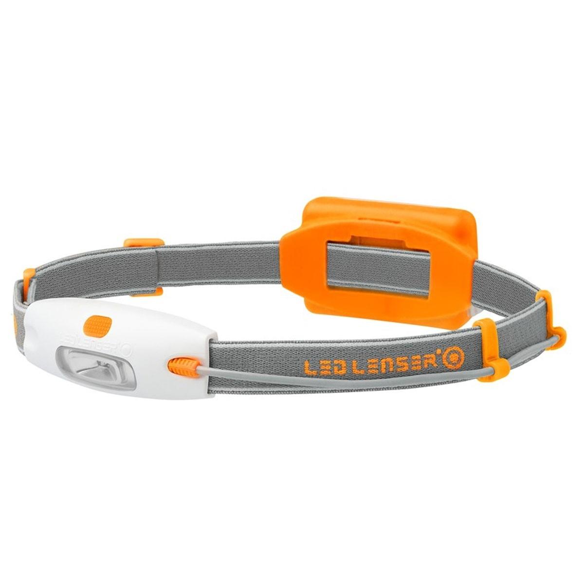 Orange sensor pandelampe med genopladeligt batteri pandelygte