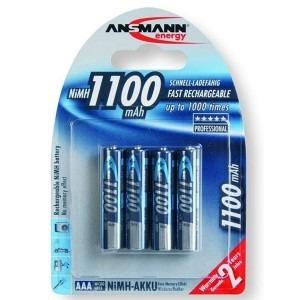 Image of   Ansmann Genopladelig batterier AAA