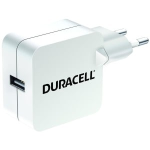 Usb single charger duracell hvid