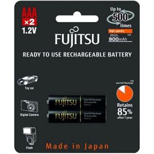 Image of   2 stk. genopladelige batterier Fujitsu Black AAA/R03