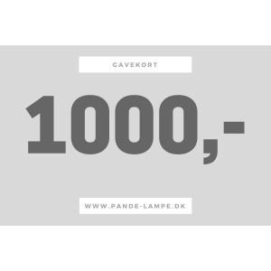 Image of   1000 kr - gavekort