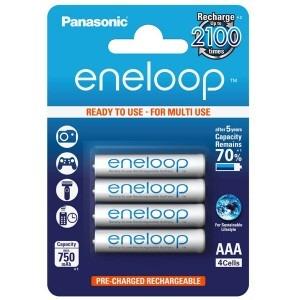 Image of   4 stk. Genopladelige Panasonic eneloop AAA