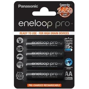 Image of   4 stk. Panasonic eneloop pro AA / R06